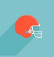 red football helmet vector image