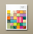 annual report colorful pattern fabrics square vector image vector image