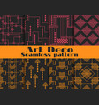 art deco seamless patterns set retro backgrounds vector image vector image