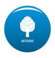 artichoke icon blue vector image vector image