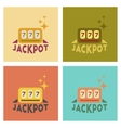 assembly flat icons poker jackpot Lucky seven vector image vector image