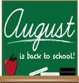 August School vector image vector image