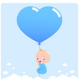baboy with balloon vector image vector image