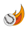 baseball icon image vector image