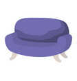 beautiful sofa isolated icon vector image vector image