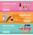 Beauty Salon Banners Set vector image vector image
