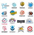 biggest collection logos internet and vector image