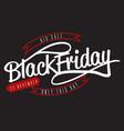 black friday big sale lettering logo sign vector image