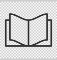 book education icon in flat style literature vector image vector image