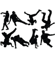 break dance collection vector image vector image