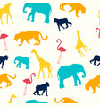 childrens seamless pattern animals are giraffe vector image
