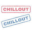 chillout textile stamps vector image vector image