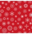 Christmas and New Year seamless red pattern vector image vector image