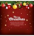 christmas fir decoration card vector image