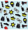 Colored police pattern vector image