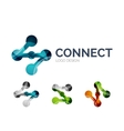 Connection icon logo design made of color pieces vector image vector image