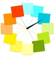 Creative clock design with stickers for your text vector image