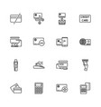 credit cards - flat icons vector image vector image