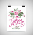 Decorative element floral birthday card A Summer vector image vector image