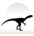 dinosaurs dilophosaurus vector image vector image