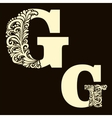 Elegant capital letter G in the style Baroque vector image vector image