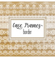 elegant lace borders frames laser cut vector image vector image