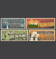 environment banners ecology and nature saving vector image