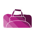 fitness bag icon vector image vector image