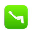 flabby arm cosmetic correction icon digital green vector image vector image