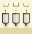 Flat Design Mens Urinal Row vector image vector image