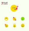 flat icon gesture set of frown have an good vector image vector image