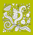 floral ornament sketch for your design vector image vector image