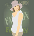 for fashion magazines vector image vector image
