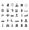 Funeral icons vector image vector image