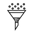 funnel with filter icon vector image vector image