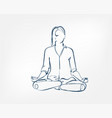 girl pose yoga asana one line design element vector image