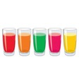 glasses with tasty fresh juice vector image vector image