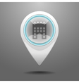 Glossy Hotel Icon vector image