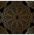 Gold mandala pattern vector image vector image