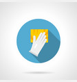 hand and sponge flat round icon vector image