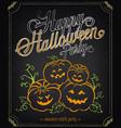 happy halloween party invitation background vector image vector image