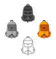 hiking bag icon for web and vector image