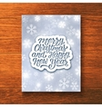 Holly Jolly Merry Christmas greeting card vector image