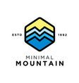 minimal mountain logo design inspiration vector image vector image