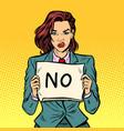 no female protest vector image