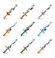 Original swords icons set vector image vector image