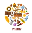 Pastry flat icons vector image vector image