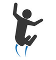 pictogram man jumping up concept vector image