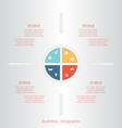 pie infographic 4 vector image vector image