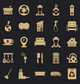 purification icons set simple style vector image vector image